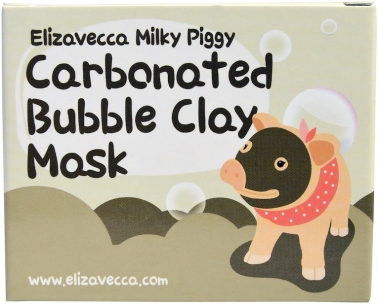 Маска Elizavecca milky piggy carbonated bubble clay mask, очищающая маска.(2)